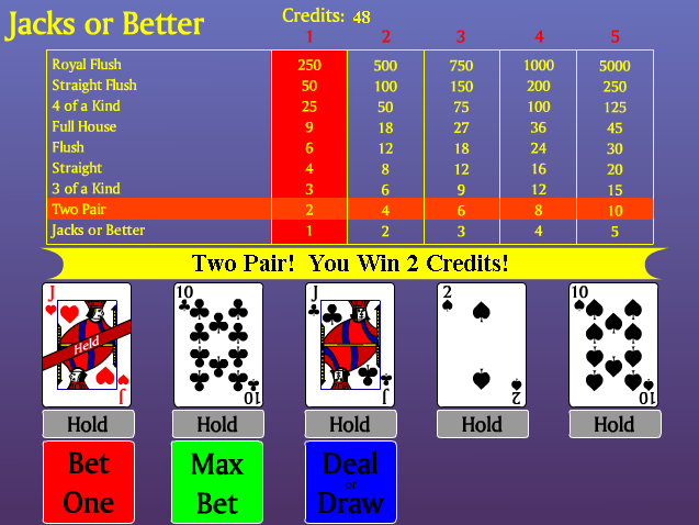 free video poker jacks or better