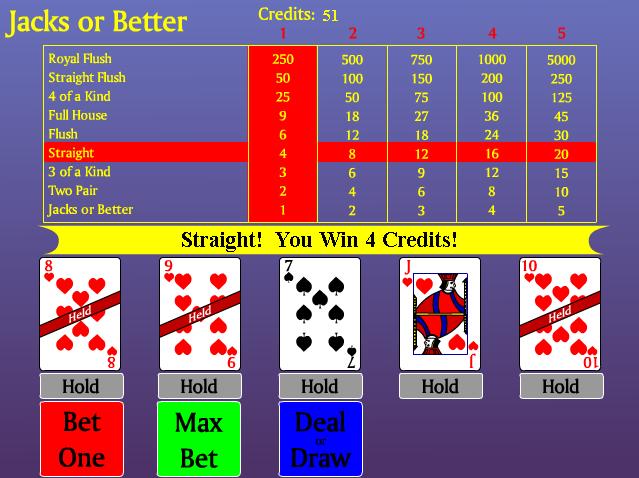 free jacks or better poker games no download